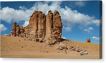 Pedro Canvas Print - Rock Formations In The Pacana Guardians by Panoramic Images