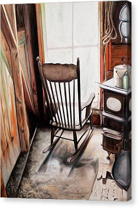 Rocking Chair Canvas Print by S Aili