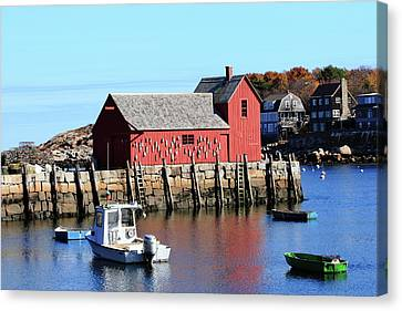 Rockport Motif Number 1 Canvas Print by Lou Ford