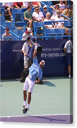 Roger Federer After 1st Slam Canvas Print by Rexford L Powell