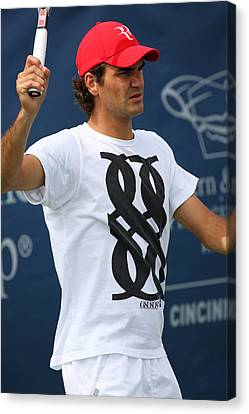 Roger Federer Canvas Print by James Marvin Phelps