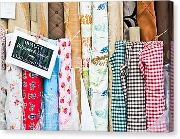Designers Choice Canvas Print - Rolls Of Fabric  by Tom Gowanlock