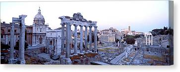 Roman Forum Rome Italy Canvas Print by Panoramic Images
