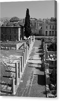 Ancient Canvas Print - Roman Market by George Atsametakis