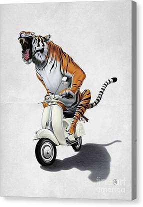 Rooooaaar Wordless Canvas Print