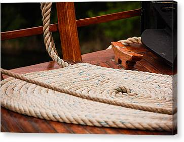 Canvas Print featuring the photograph Rope Circle by Dany Lison