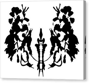 Rorschach Inkblot Canvas Print by Granger