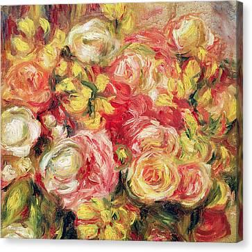 Roses Canvas Print by Pierre Auguste Renoir