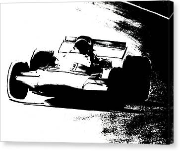 Canadian Grand Prix Canvas Print - Rounding The Bend by Mike Flynn