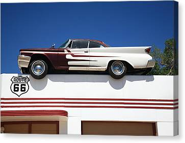 Route 66 - Desoto's Salon Canvas Print by Frank Romeo