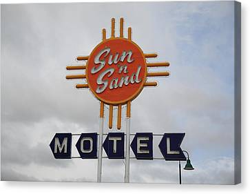 Route 66 - Santa Rosa New Mexico Canvas Print by Frank Romeo