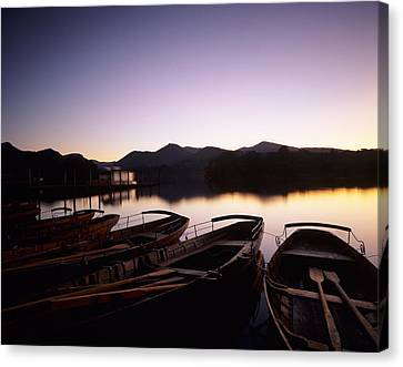 Rowboat Canvas Print - Rowboats On Derwentwater, Lake District by Panoramic Images