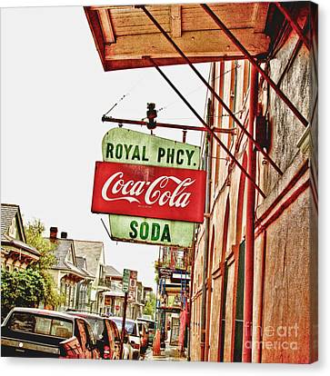 Royal Pharmacy Soda Sign Canvas Print
