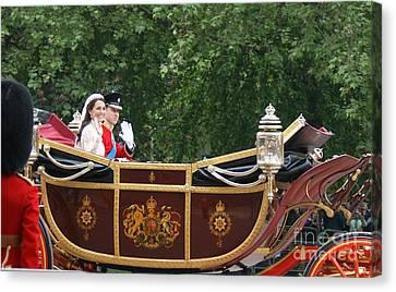 Duchess Of Cambridge Canvas Print - Royal Wedding by Mariusz Czajkowski