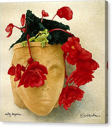 Ruby Begonia... Canvas Print by Will Bullas