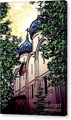 Russian Church Canvas Print by Sarah Loft