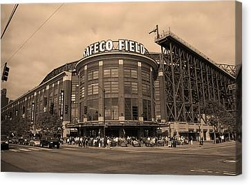 Safeco Field - Seattle Mariners Canvas Print by Frank Romeo