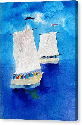 2 Sailboats Canvas Print by Carlin Blahnik