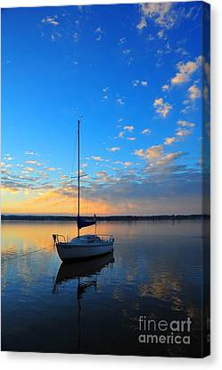 Canvas Print featuring the photograph Sailing 2 by Terri Gostola