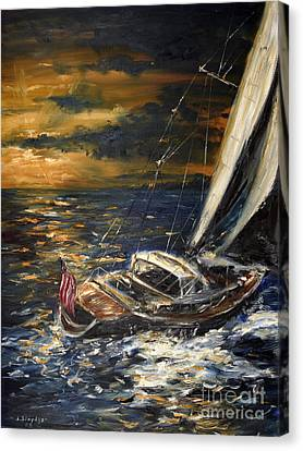 Sailing Canvas Print by Arturas Slapsys