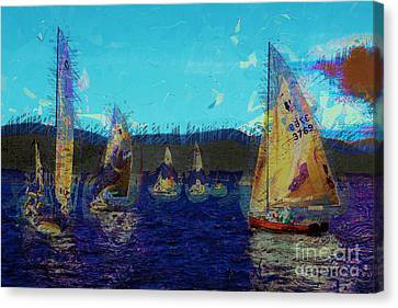 Sailing Day  Canvas Print by Julie Lueders