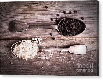 Salt And Pepper Vintage Canvas Print by Jane Rix