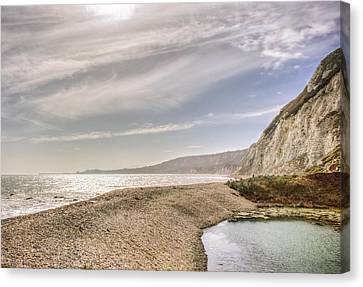 Samphire Hoe Beach Canvas Print by Ian Hufton