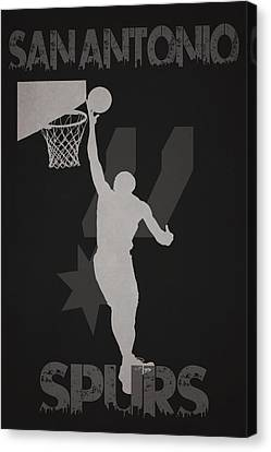 Nba Championship Canvas Print - San Antonio Spurs by Joe Hamilton