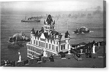 San Francisco Cliff House Canvas Print by Underwood Archives