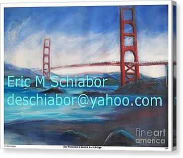 San Francisco Golden Gate Bridge  Canvas Print by Eric  Schiabor