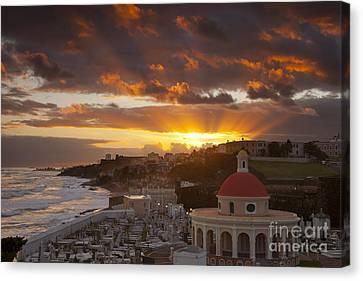 Puerto Rico Canvas Print - San Juan Sunrise by Brian Jannsen