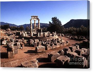 Sanctuary Of Athena At Delphi Canvas Print by Bill Bachmann