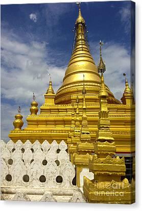 Canvas Print featuring the photograph Sandamuni Pagoda Mandalay Burma by Ralph A  Ledergerber-Photography