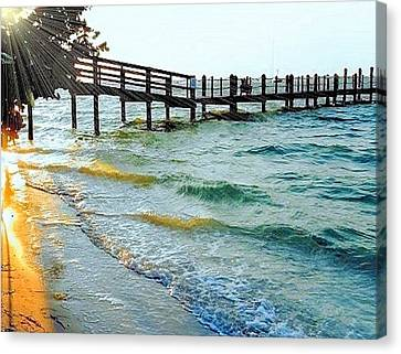 Canvas Print featuring the photograph Sanibel At Sunset by Janette Boyd