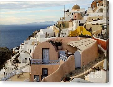Santorini - Greece Canvas Print by Haleh Mahbod