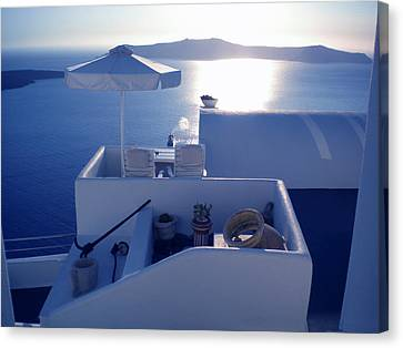 Canvas Print featuring the photograph Santorini Island Greece by Colette V Hera  Guggenheim
