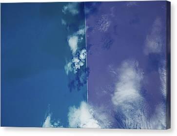 Great Salt Lake Canvas Print - Satellite View Of Great Salt Lake by Panoramic Images
