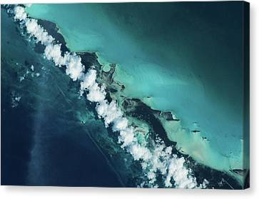 Turks And Caicos Islands Canvas Print - Satellite View Of Turks And Caicos by Panoramic Images