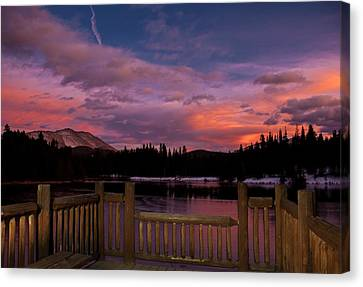 Sawmill Lake Sunset Canvas Print by Michael J Bauer