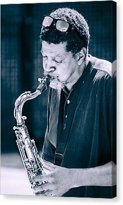 Saxophone Player 2 Canvas Print by Carolyn Marshall