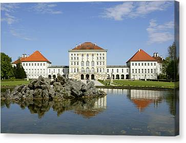 Schloss Nymphenburg In Muenchen, Castle Canvas Print