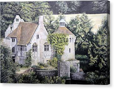 Canvas Print featuring the painting Scotney Castle by Rosemary Colyer
