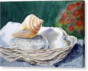 Sea Shells Canvas Print by Irina Sztukowski