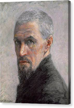 Self Portrait Canvas Print by Gustave Caillebotte