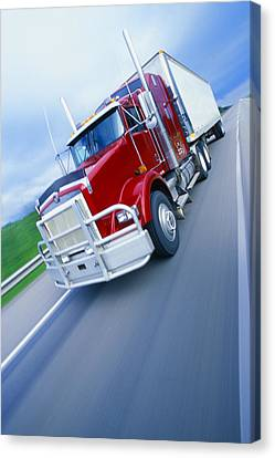 Semi-trailer Truck Canvas Print by Don Hammond