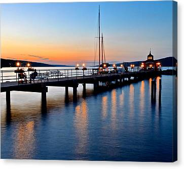 Seneca Lake Sunset Canvas Print by Frozen in Time Fine Art Photography