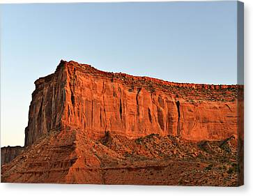 Sentinel Mesa Monument Valley Canvas Print by Christine Till