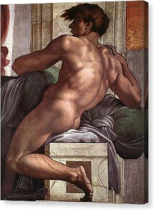 Separation Of Land From Sea - Ignudo Detail Canvas Print