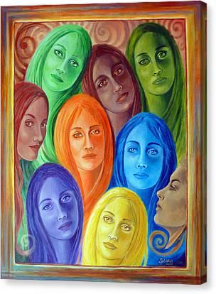 Serene Sisters Canvas Print