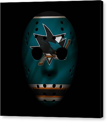 Sharks Jersey Mask Canvas Print by Joe Hamilton